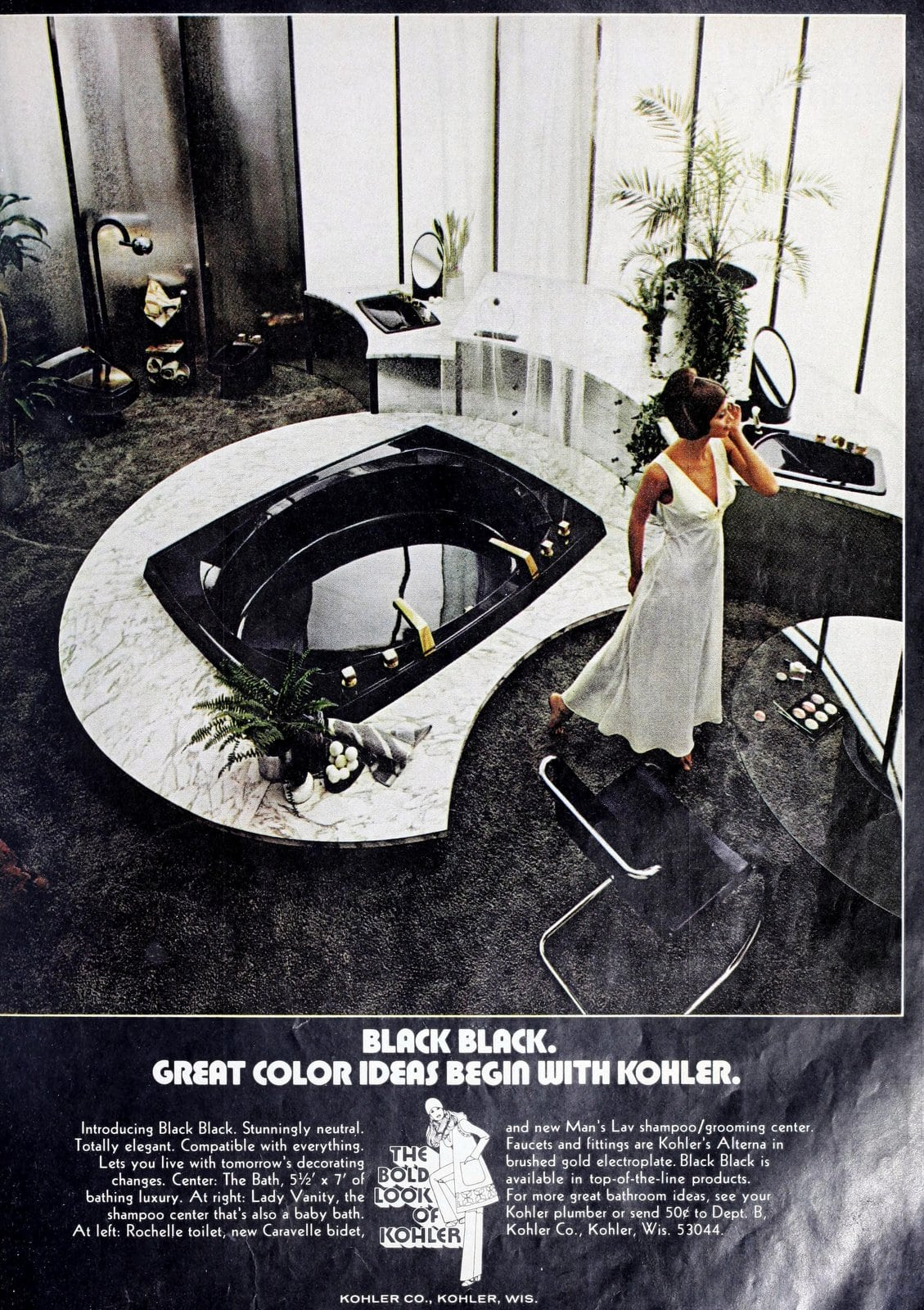 Black Black Kohler bathroom suite (1972)