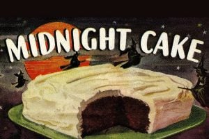Black Midnight Cake vintage recipe
