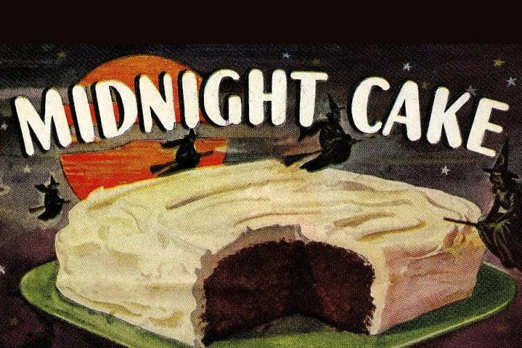 Black Midnight Cake vintage recipe