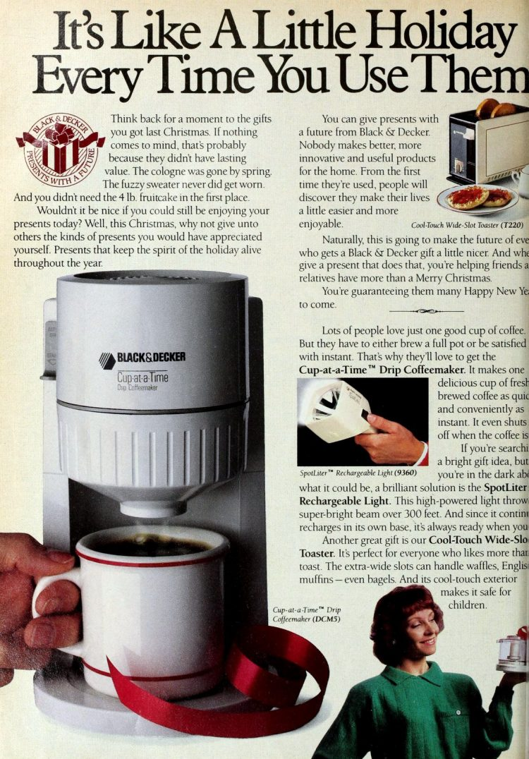 Black and Decker coffee maker - Cup-at-a-time (1989)