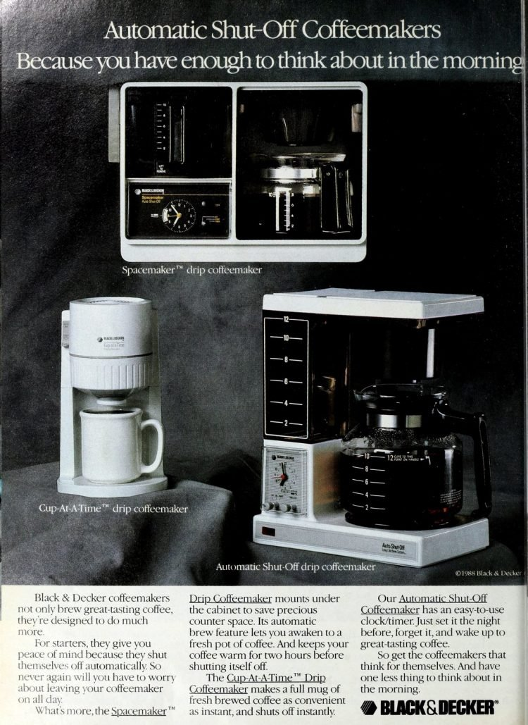 Black and Decker coffee maker - Spacemaker and more (1988)
