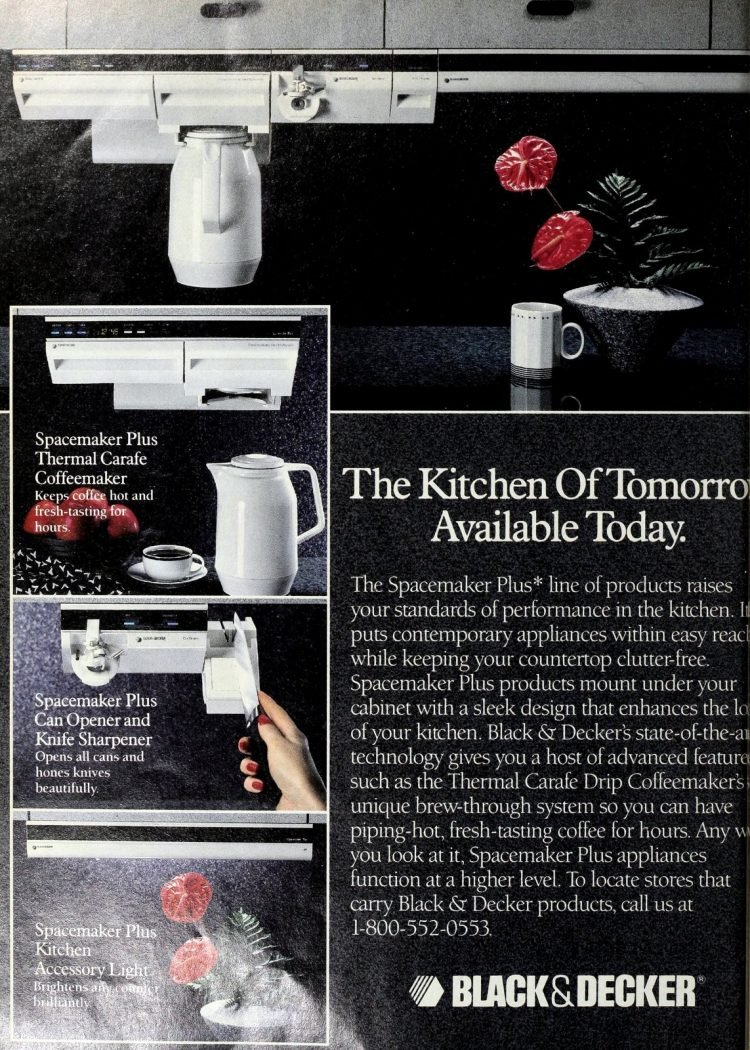 Black and Decker coffee maker - The Spacemaker Plus line (1990)