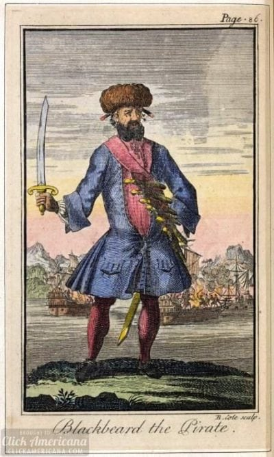 Blackbeard the pirate-1724