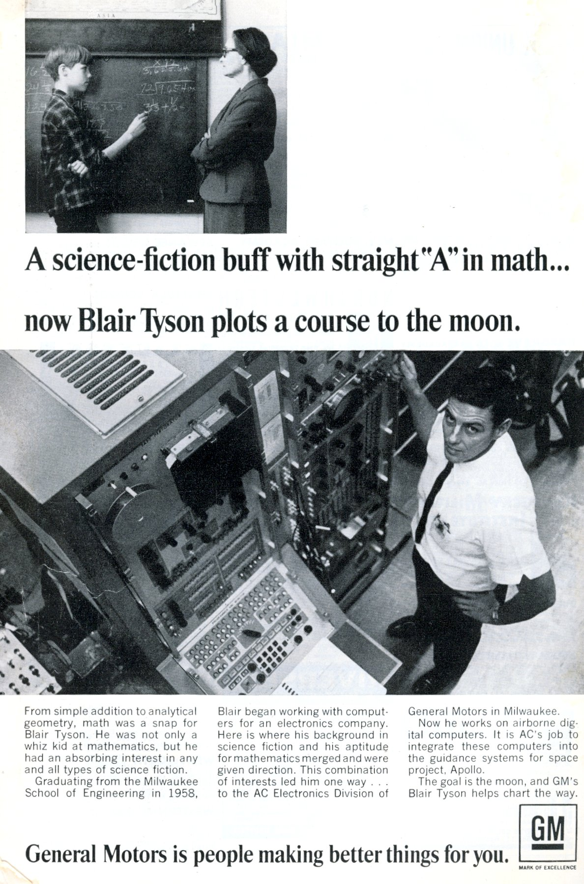 Blair Tyson plots a course to the moon (1967)