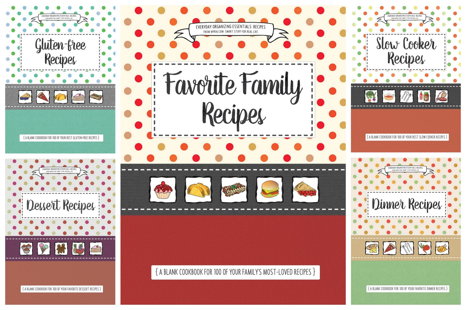 Blank cookbooks you can fill with your favorite family recipes