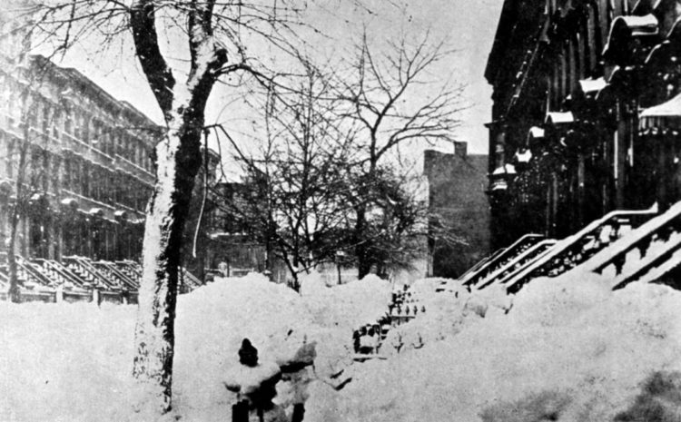 Blizzard of 1888, Park Place in Brooklyn NY - NOAA