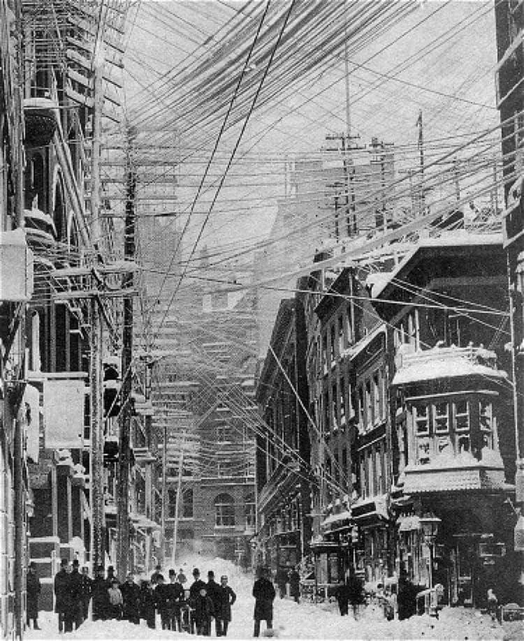 Blizzard of 1888 via The New York Historical Society