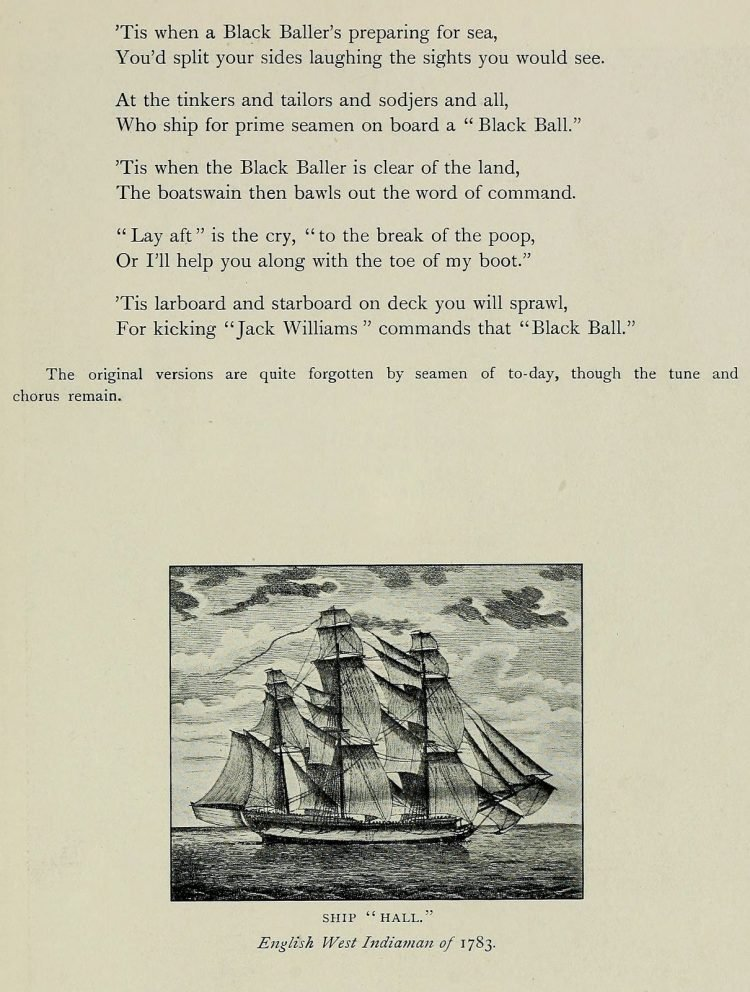 Blow the Man Down music and lyrics - Ships, sea songs and shanties book (1)