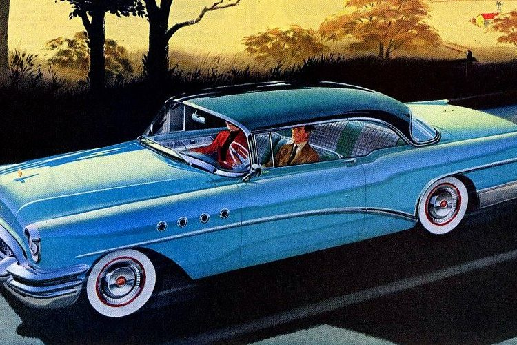 Blue 1955 Buick Roadmaster