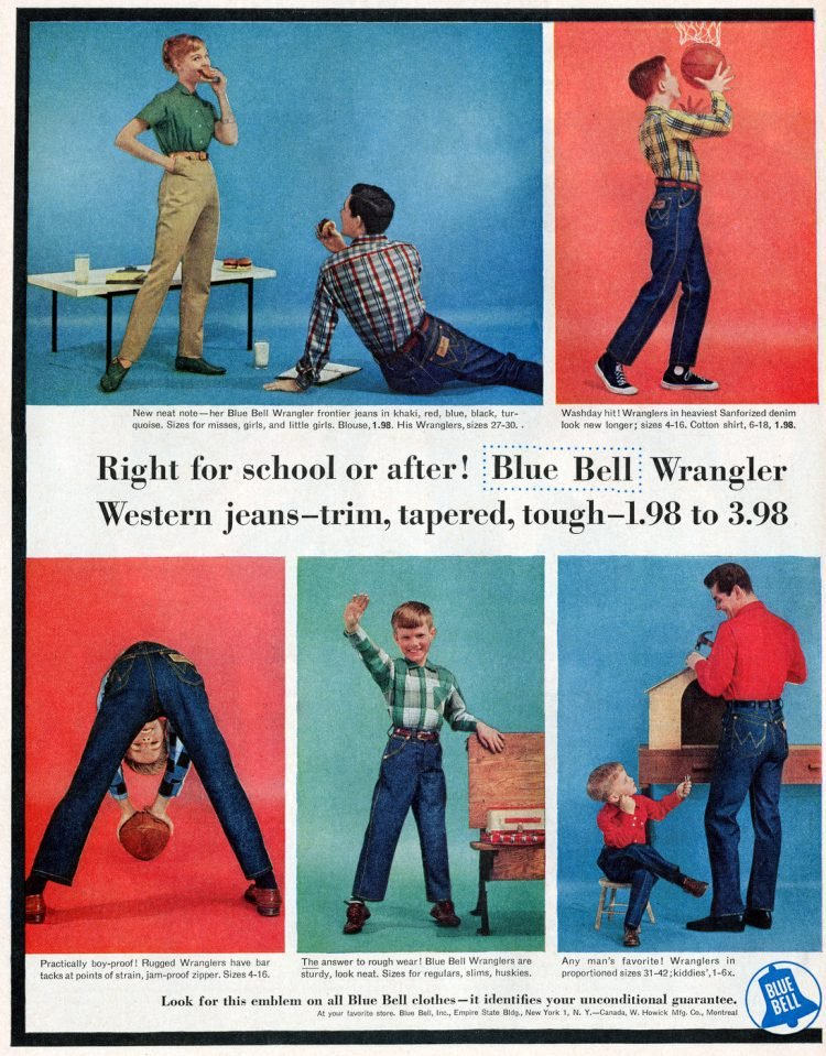 Blue Bell Jeans - Fashion clothing from 1956