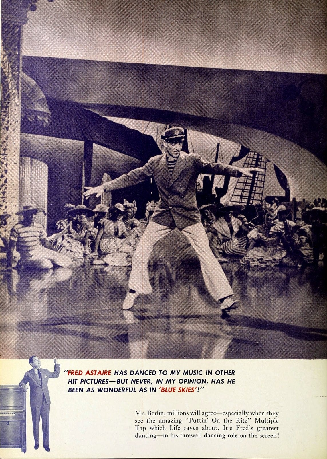 Blue Skies - 1946 classic musical movie with Fred Astaire and Bing Crosby (5)