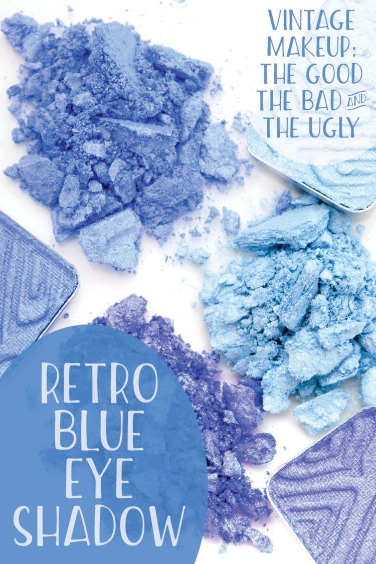 Blue eyeshadow - vintage makeup