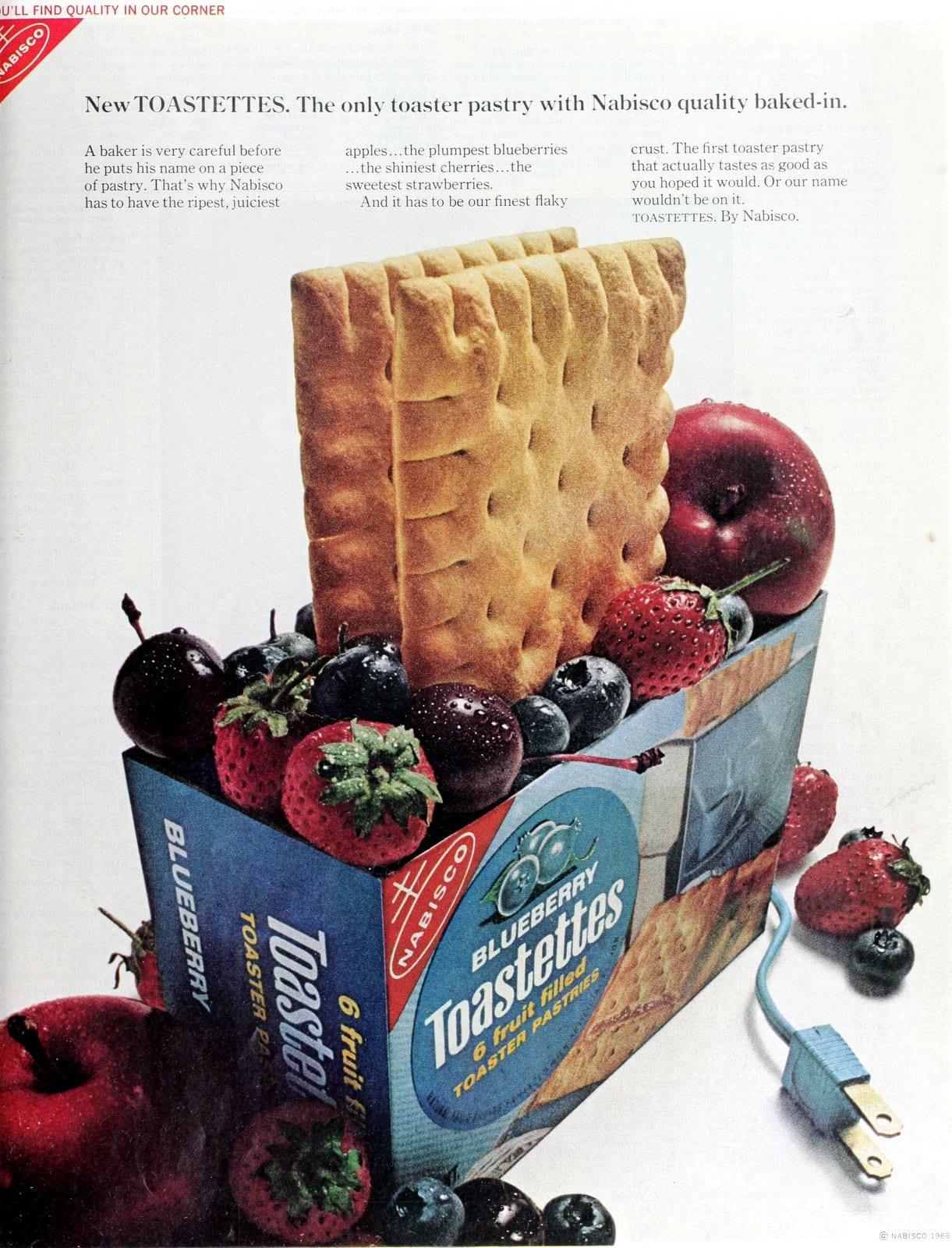 Blueberry Toastettes toaster pastries (1968)