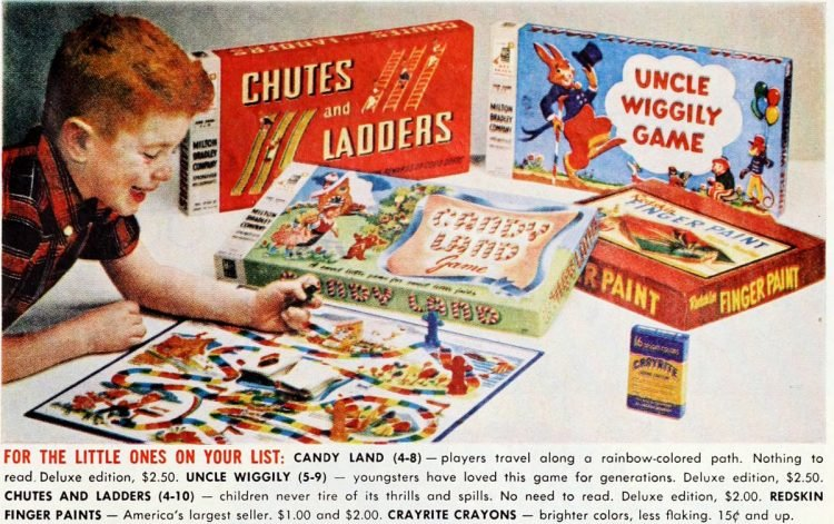 Board games from the 50s - Chutes Candy Wiggly