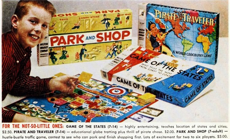 Board games from the 50s - Park and Shop - States - Pirate Traveler 1959