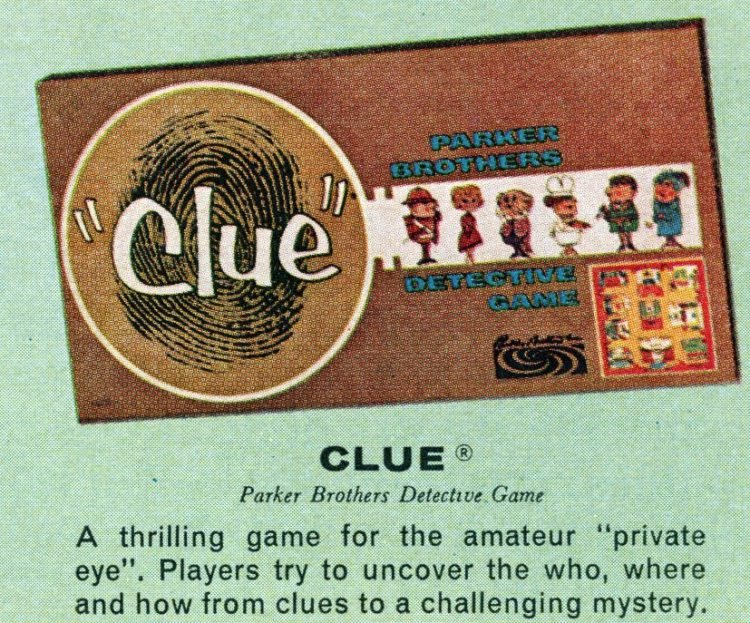 Board games from the 60s - Clue 1964 version