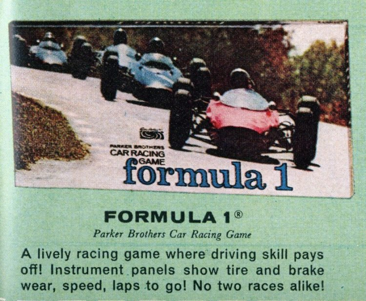 Board games from the 60s - Formula 1 race cars