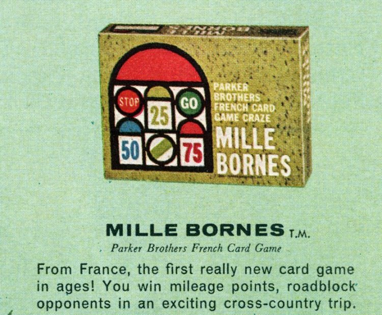 Board games from the 60s -Mille Bornes