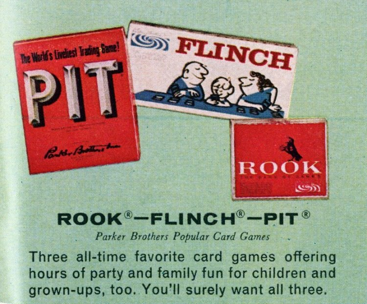 Board games from the 60s - Rook - Flinch - Pit