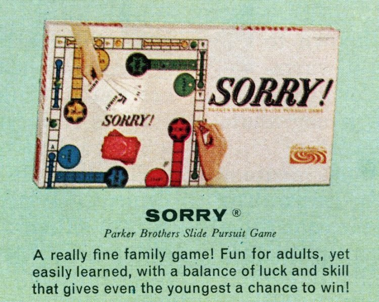 Board games from the 60s - Sorry