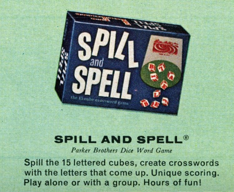 Board games from the 60s - Spill and Spell