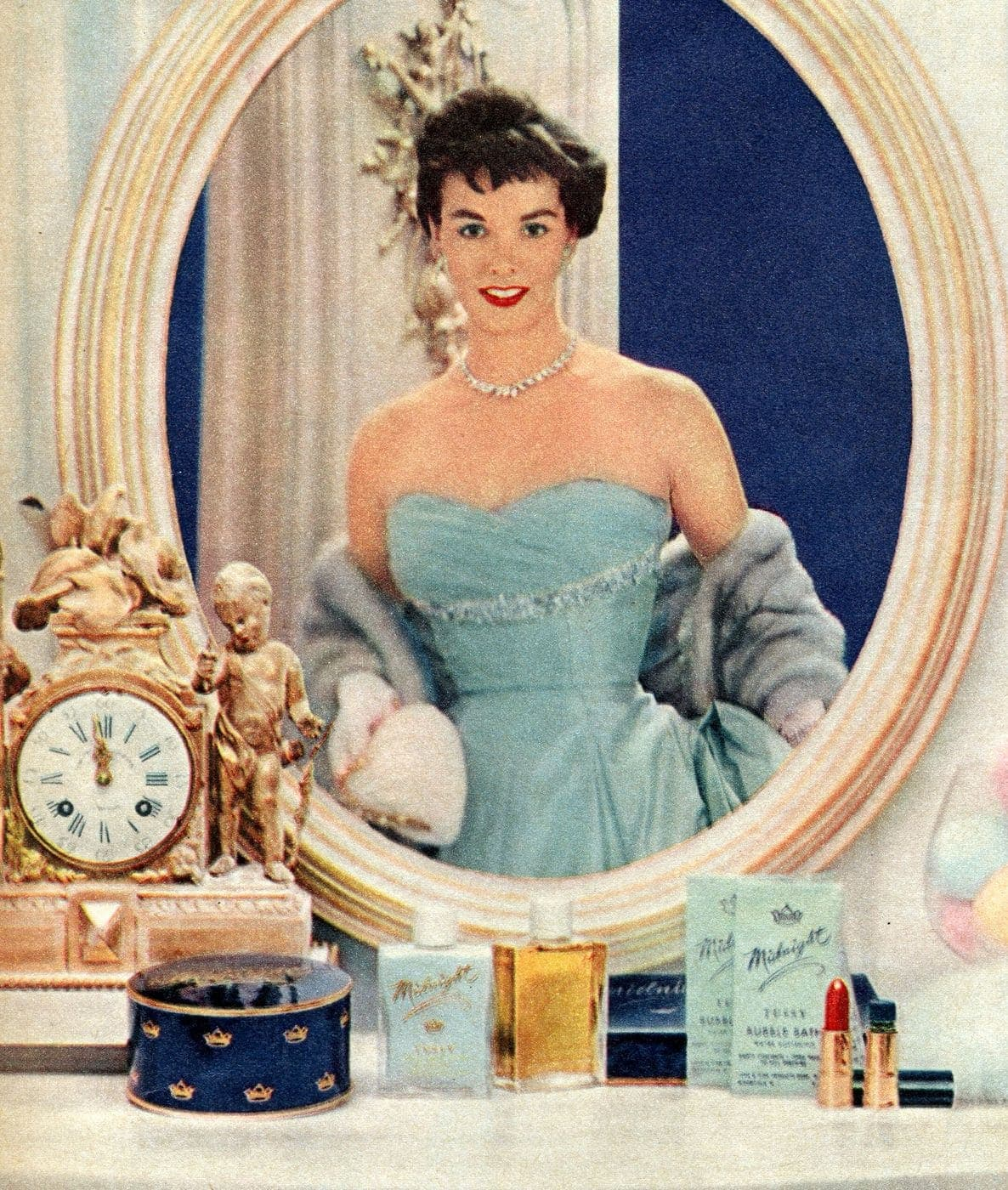 Bobbed hairstyle from the 1950s