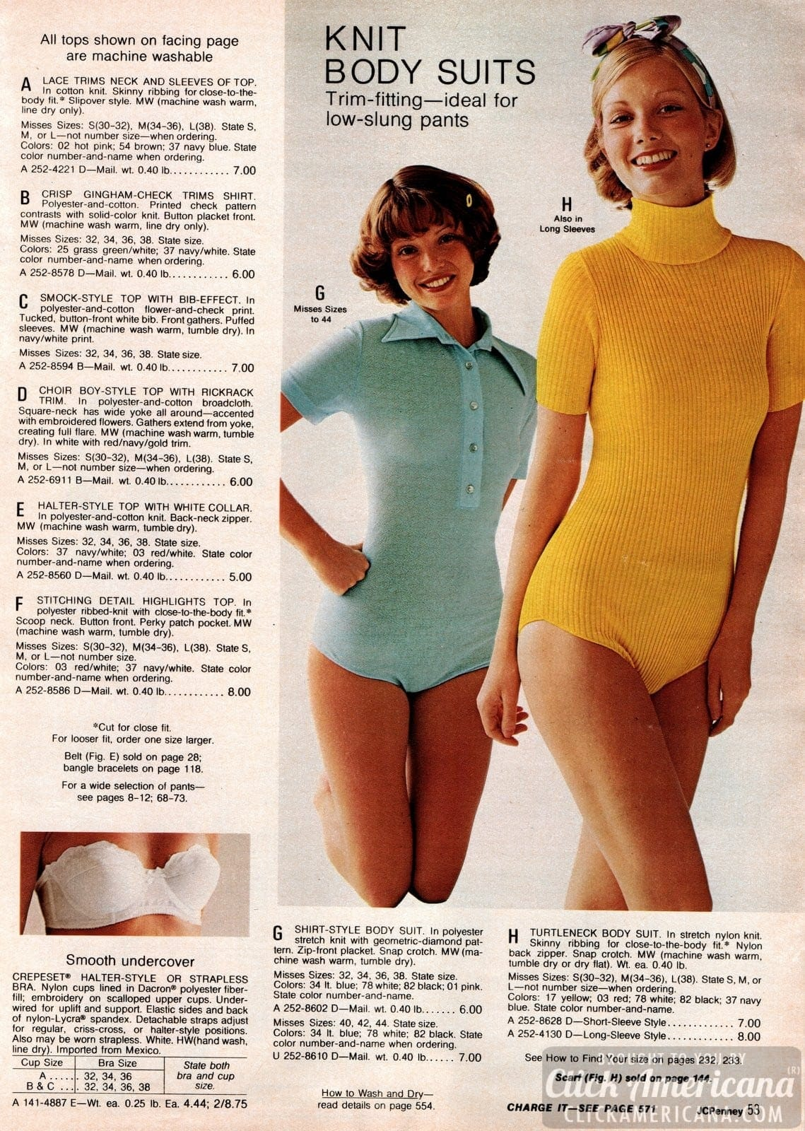 Body suits for women - Retro fashions from 1973 (1)