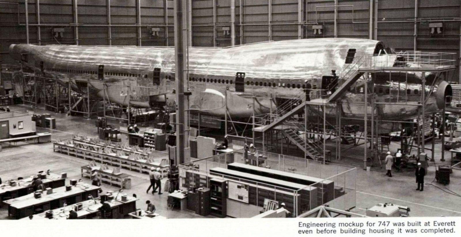 Boeing 747 jet - Engineering mockup (1967)