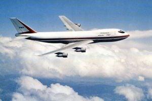 Boeing 747 jumbo jet in 1977