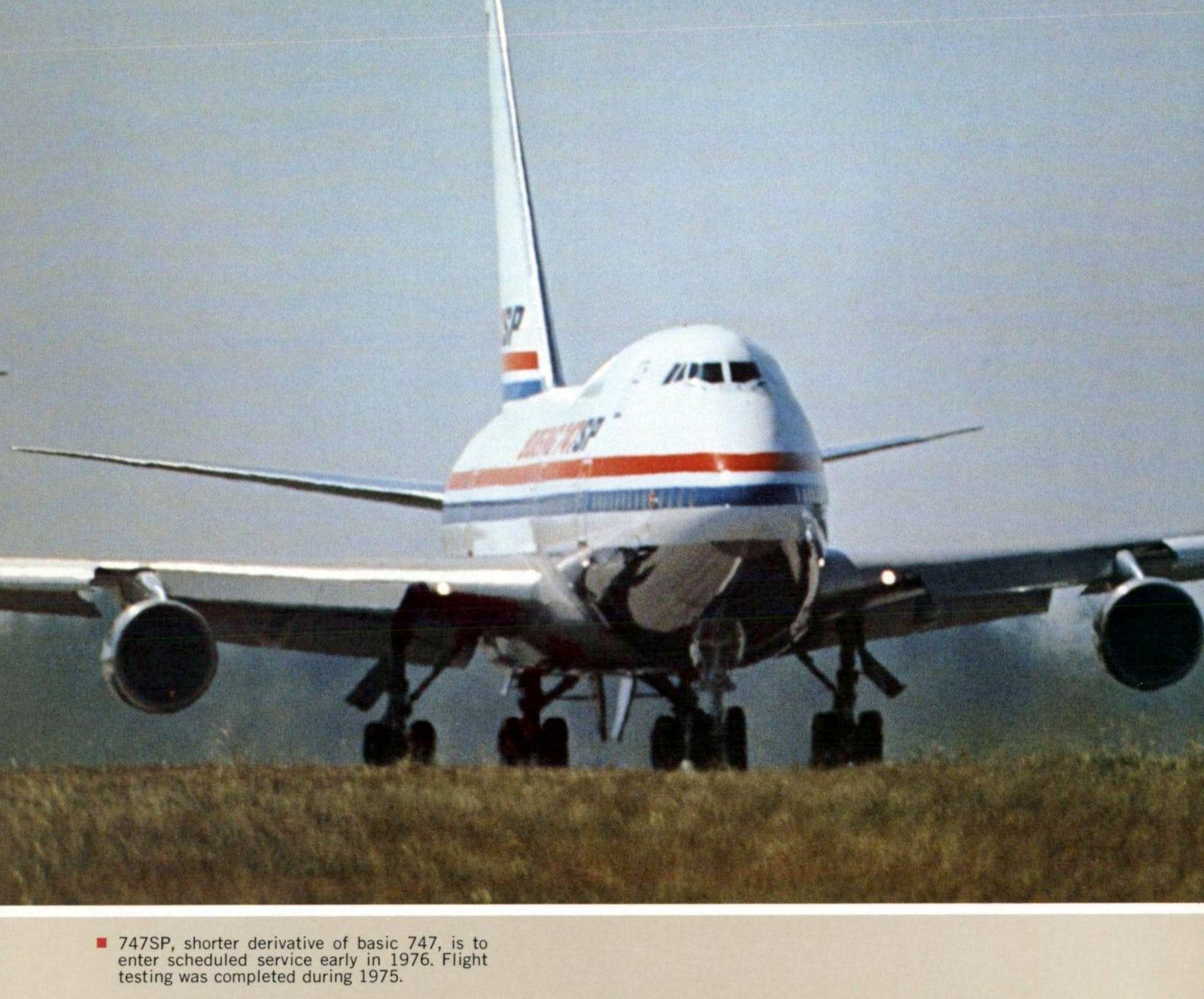 Boeing 747SP flight testing (1975)