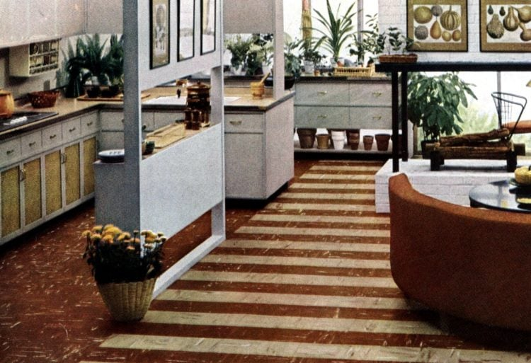 Bold patterned retro floors from the fifties (1)