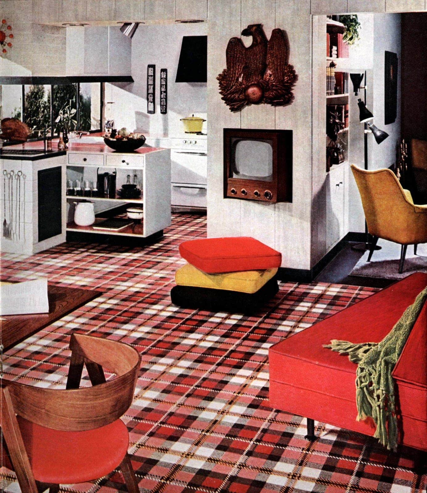 Bold patterned retro floors from the fifties (3)