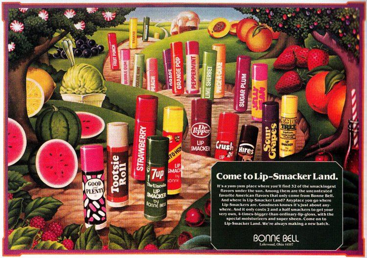 Bonne Bell Lip Smackers vintage ad