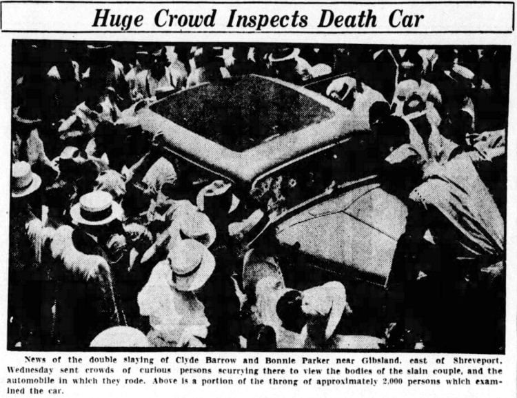 The real Bonnie and Clyde death