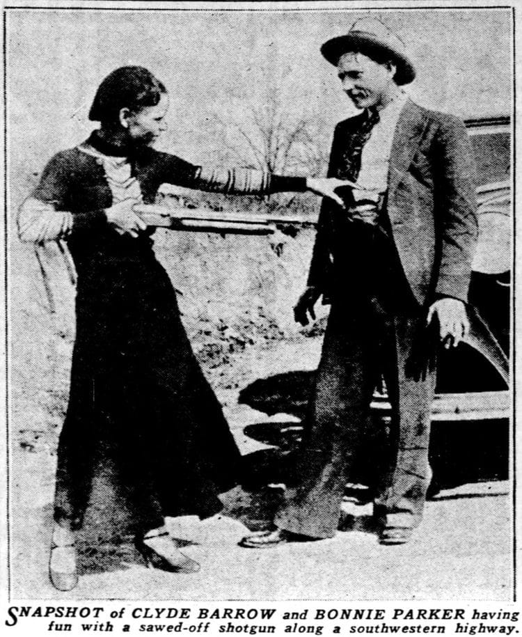The readl Bonnie and Clyde