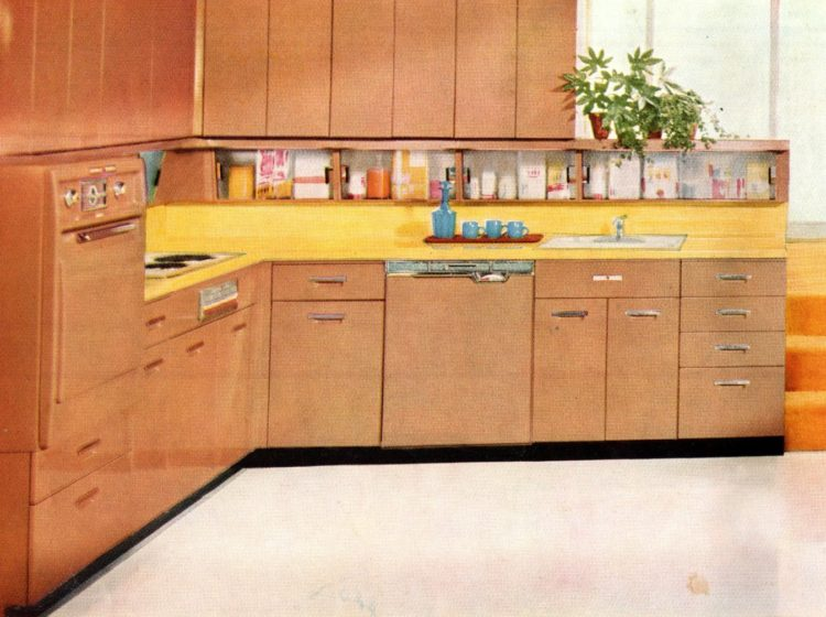 Bonus under-cabinet storage areas from the 1950s - 1958