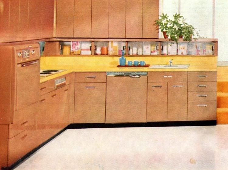 Bonus under-cabinet storage areas from the 1950s - 1958