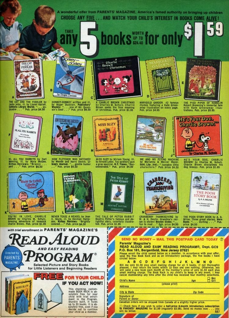 Book clubs for children from 1974