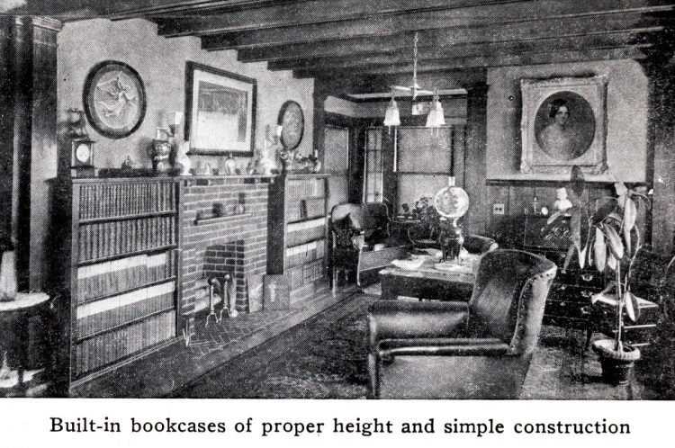 Bookcases shelves from 1914 - Making built-in furniture (2)
