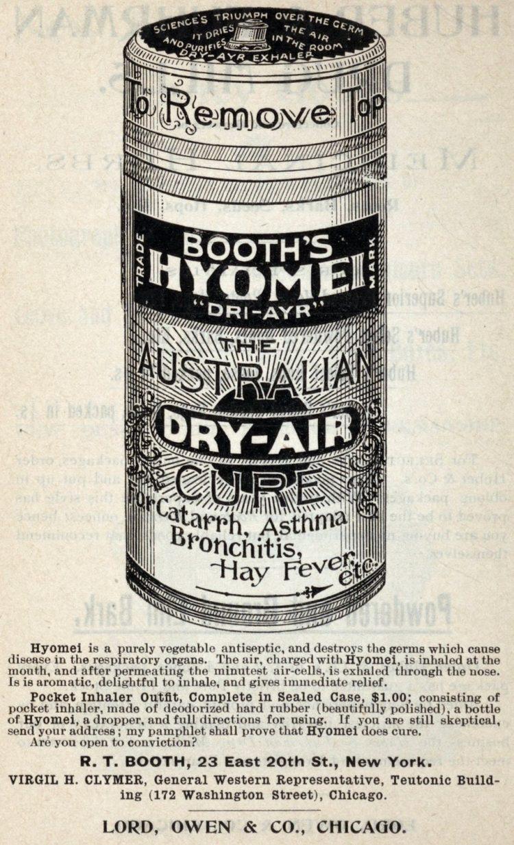 Booth's Hyomei Dri-Ayr - The Australian dry air cure (1896)