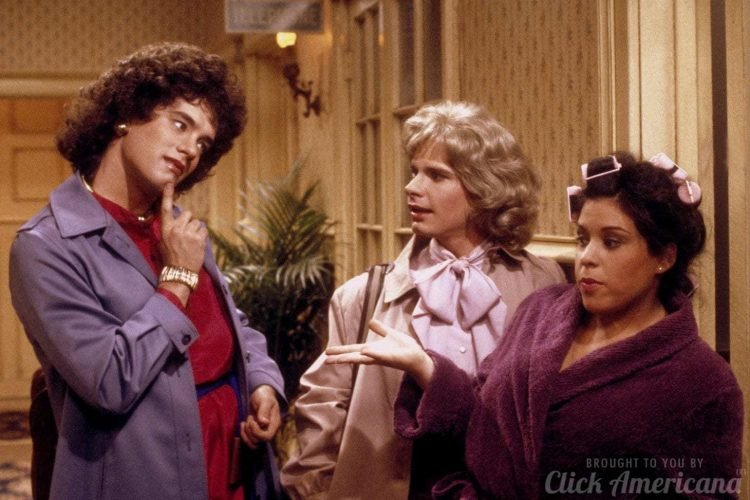 Bosom Buddies - Tom Hanks, Peter Scolari and Wendie Jo Sperber