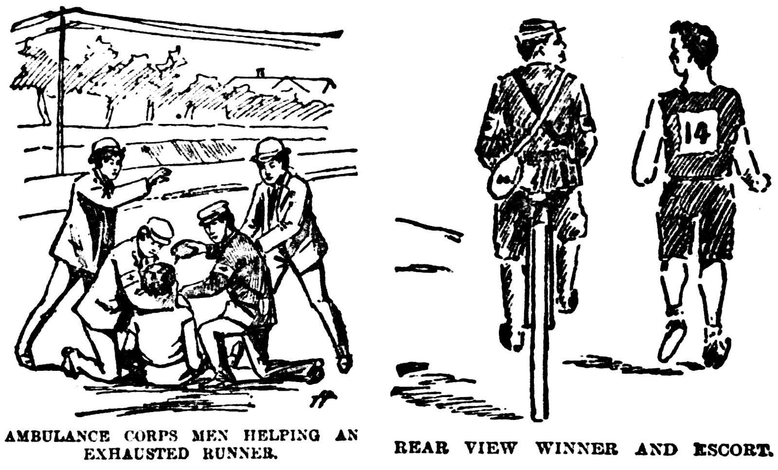 Boston Globe coverage of first Boston Marathon - Newspaper date April 20 1897