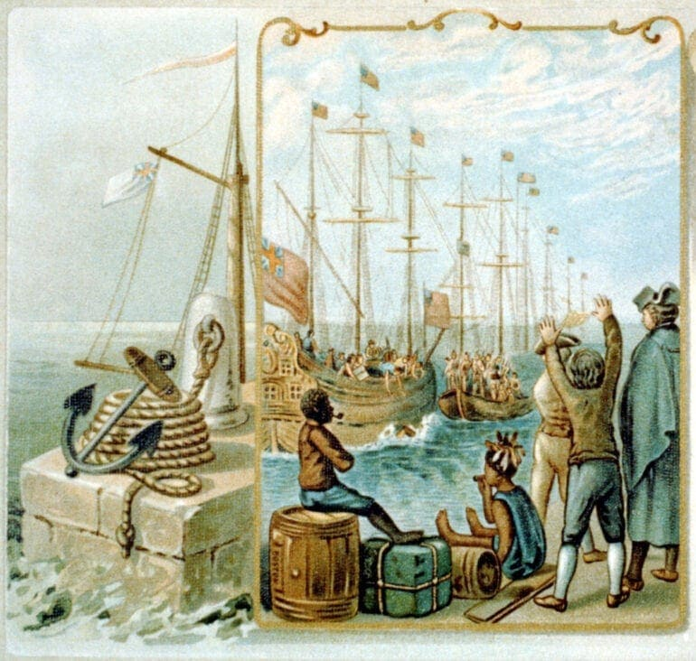 Boston tea-party Three cargoes of tea destroyed. Dec. 16, 1773