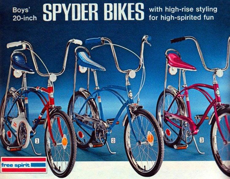 Boys 20-inch Spyder bikes 1972