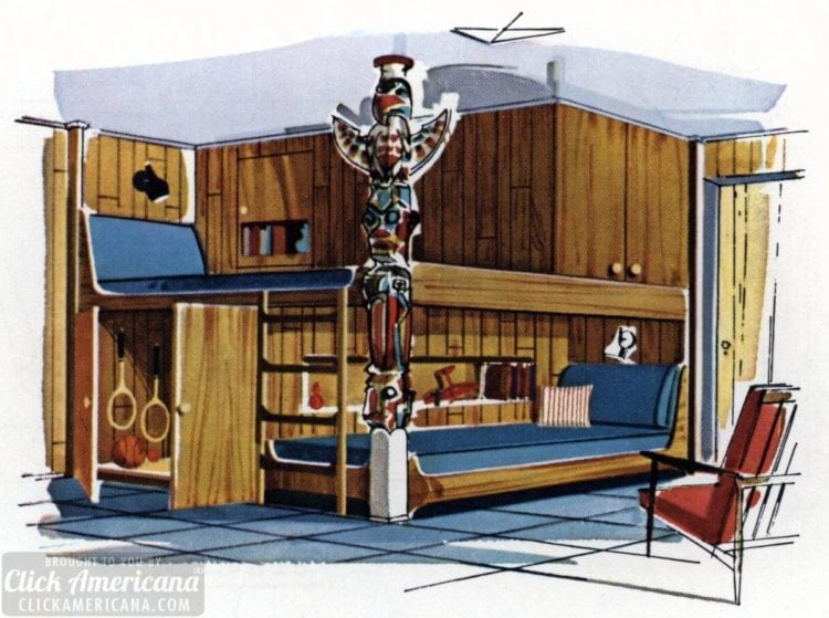 Boy's Alaskan bedroom hideaway