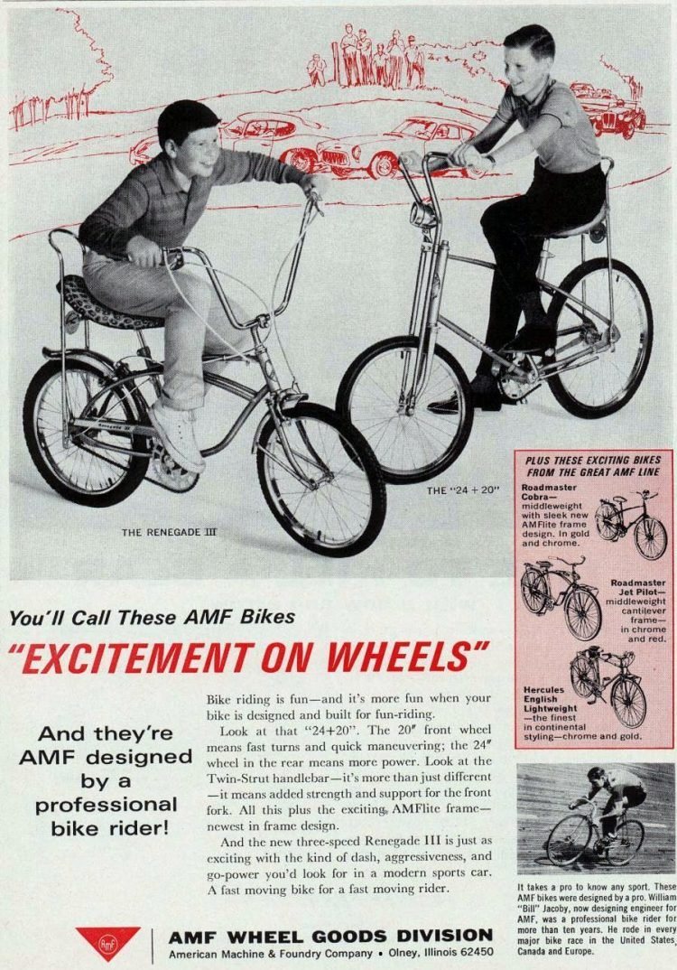 AMF bikes - Excitement on wheels! (1965)