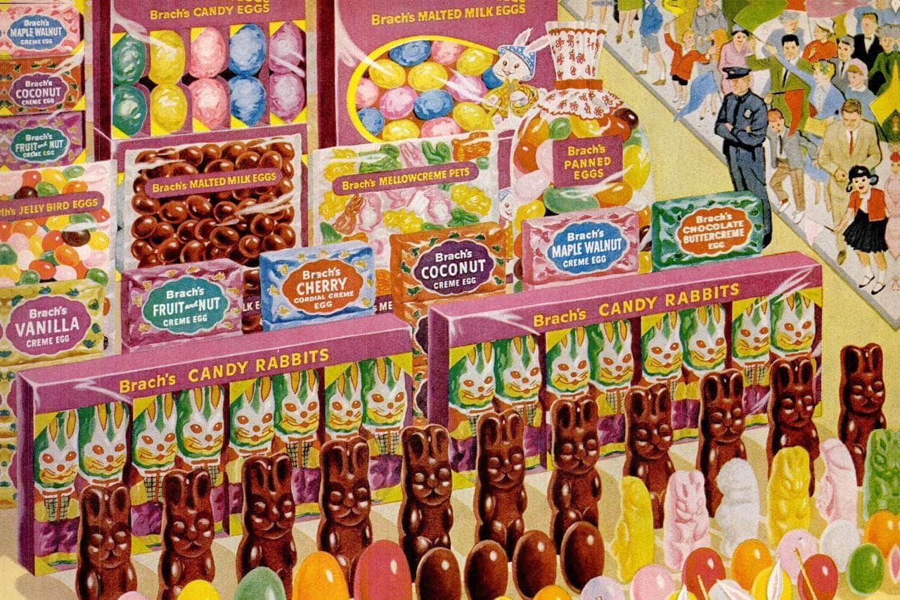 Brach's Easter candy from the 60s Bunnies, chicks, chocolate eggs