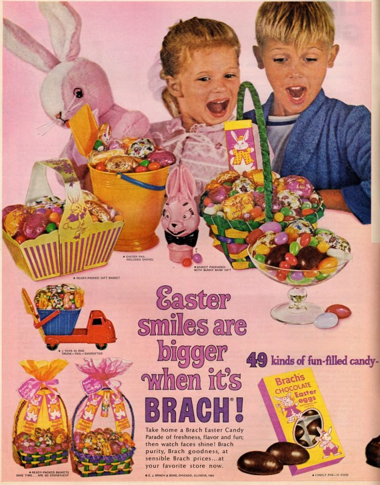 Brach's Easter candy lineup for 1964