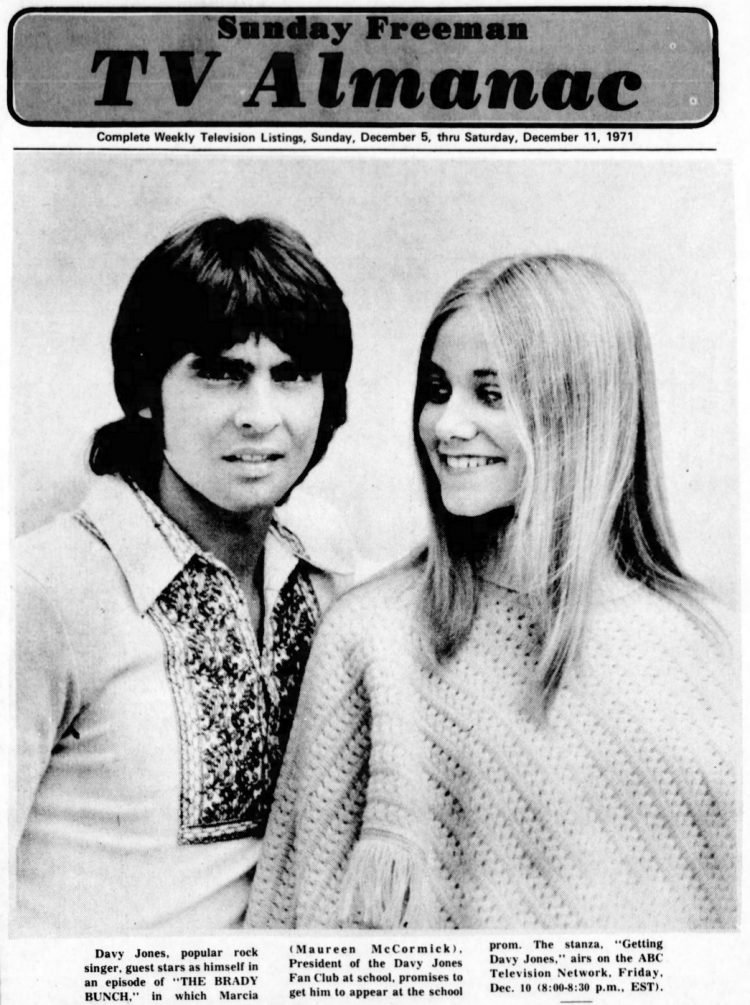 Brady Bunch - 1971 - With Davy Jones of the Monkees