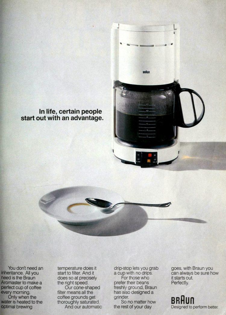 Braun coffee maker (1989)